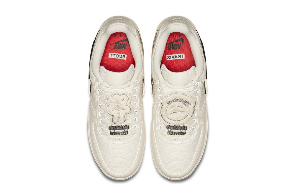 "08377f1a0953d5 New Travis Scott x Nike Air Force 1 ""Cactus Jack"" Sail Release Date ..."