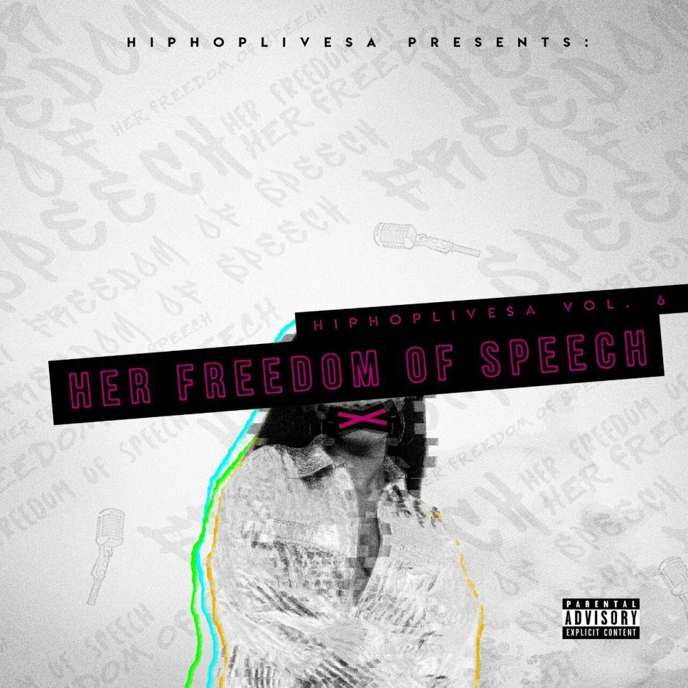 hiphoplivesa Listen To HipHopLiveSA's #HerFreedomOfSpeech Mixtape HHLSA Front Artwork