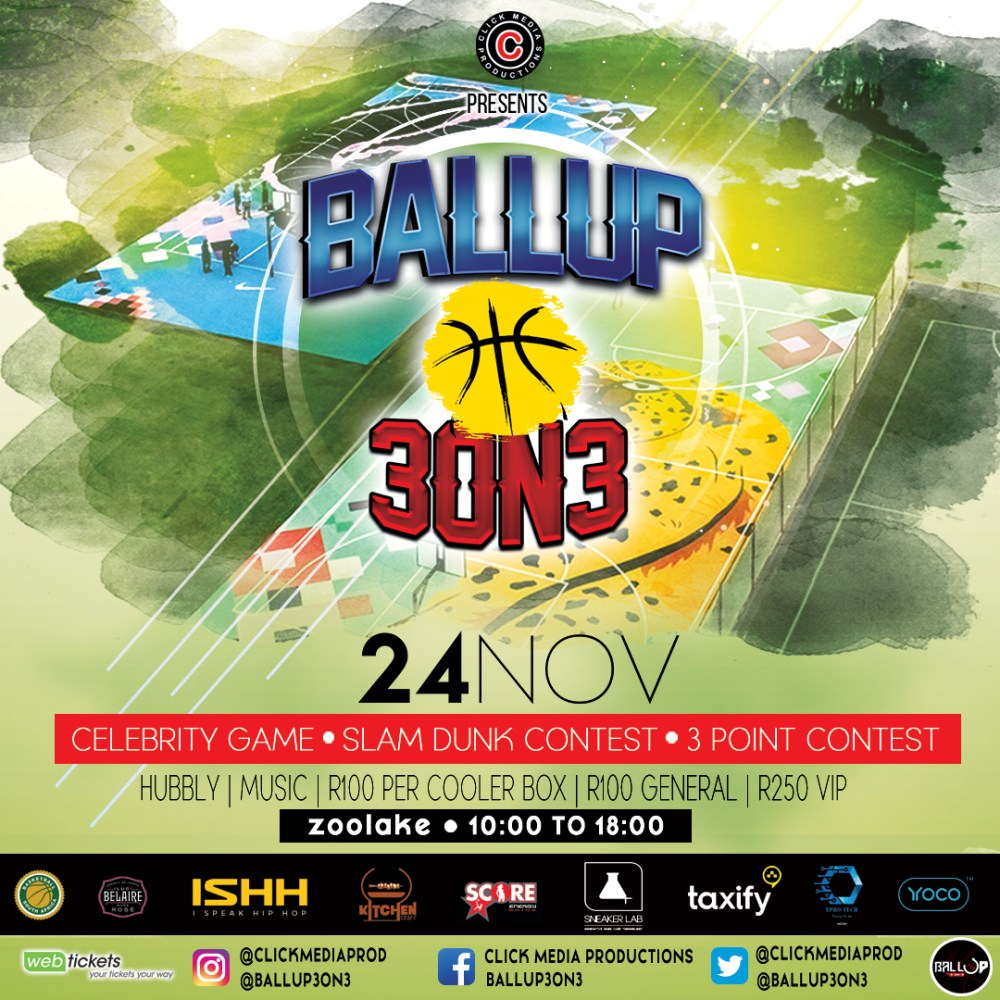#Ballup3on3 & #BallUp5on5 Taking Place At Zoo Lake Courts This Saturday BALLUP3ON3 24 nov Main Flyer