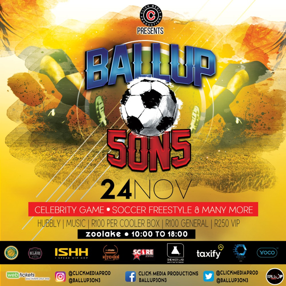 #Ballup3on3 & #BallUp5on5 Taking Place At Zoo Lake Courts This Saturday BALLUP5ON5 24 nov Main Flyer