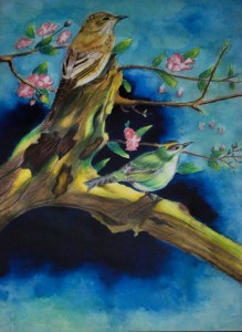 Nammy painting of birds