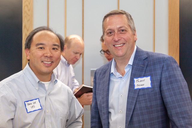 Blake Patton of Tech Square Ventures and David Lee of UPS