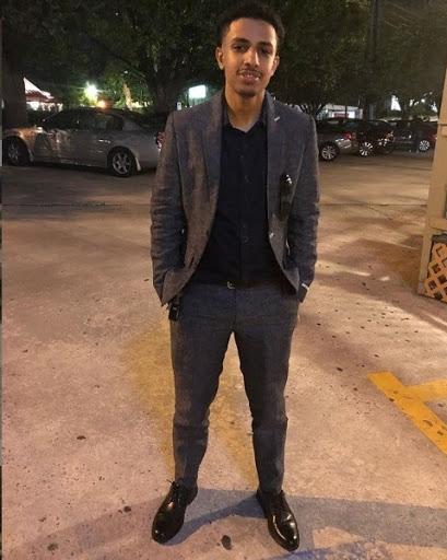 Abdella Shukur standing