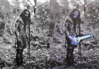 """At left, original from Patrick Carious's """"Yes Rasta""""; at right, Richard Prince's """"Canal Zone"""" series. (image via artinfo.com)"""