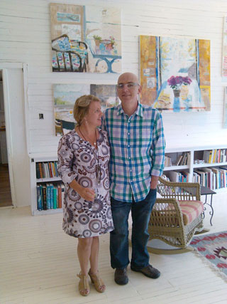 Painters Melanie Parke and Richard Kooyman