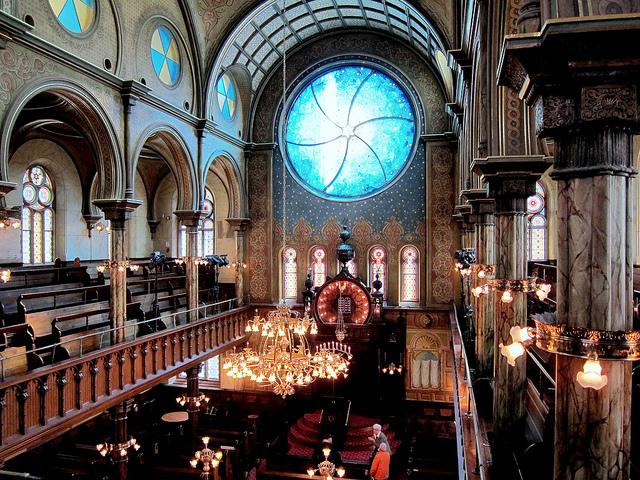 Interior of the Eldridge Street Synagogue