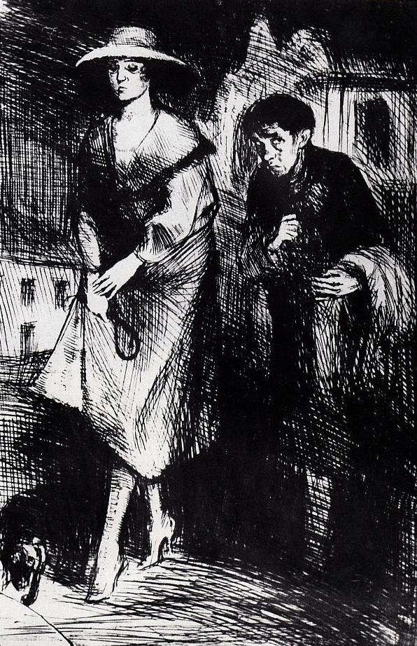 "Bruno Schulz, ""Undula at Night"" (1920–22) from ""The Book of Idolatry"" (image via brunoschulz.eu)"
