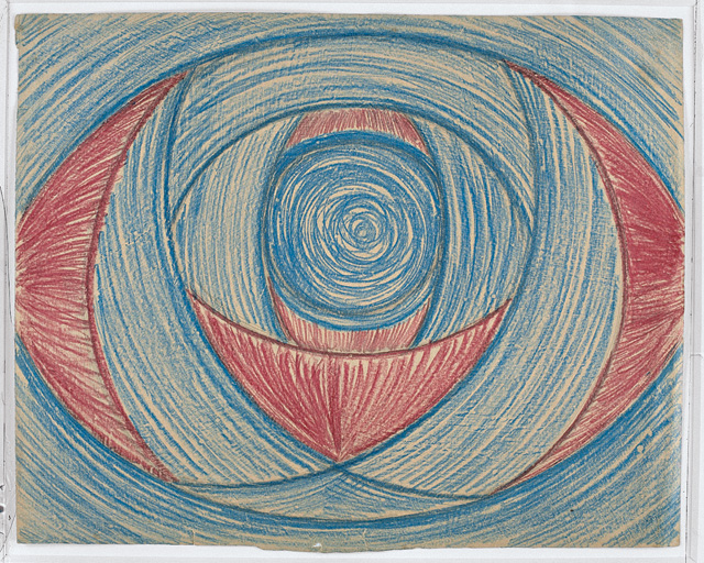 """Vaslaw Nijinsky, """"Untitled. (Arcs and Segments: Planes)"""" (1918-1919). Crayon and pencil on paper, 11 1/4 x 14 9/16 inches. Stiftung John Neumeier. © 2012 Stiftung John Neumeier."""