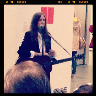 Patti Smith at MoMA (image via @museummodernart) (click to enlarge)