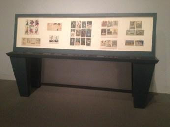 """Installation view of """"Postcards of the Wiener Werkstatte"""""""
