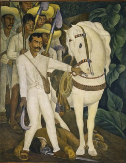 """Diego Rivera, """"Agrarian Leader Zapata"""" (1931) (Image courtesy Museum of Modern Art)"""