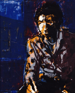 """Eddie Johnson, """"Self-Portrait"""" (1964). Serigraph. (All images courtesy of the author unless otherwise noted.)"""