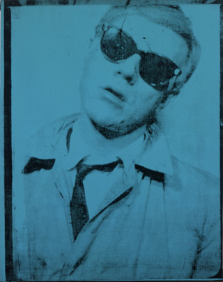 "Andy Warhol, ""Self-portrait"" (1963–64), acrylic and silkscreen ink on linen. All images collection of the Andy Warhol Museum, Pittsburgh. (click to enlarge) (all images © 2012 The Andy Warhol Foundation for the Visual Arts, Inc./ Artist Rights Society [ARS], New York, unless otherwise noted)"