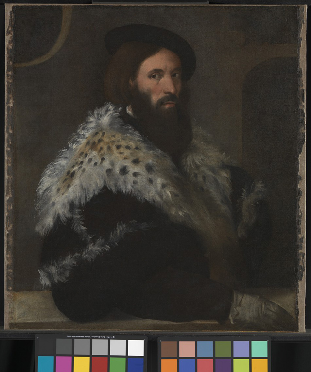 Titian portrait of Girolamo Fracastoro that was recently discovered in London's National Gallery (via Guardian, photo by National Gallery)
