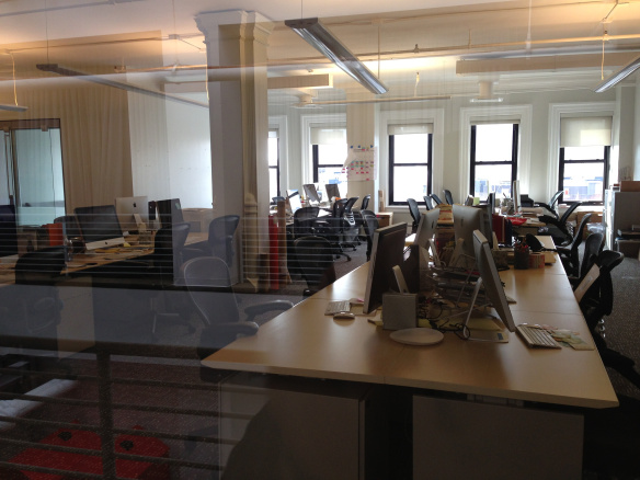 A view of the empty 20x200 offices (via Pando Daily)