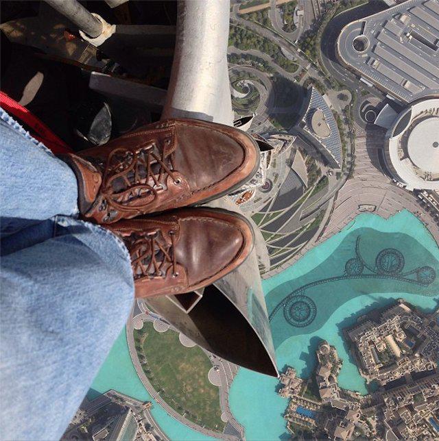 Atop the Burj Khalifa (Image via ___)