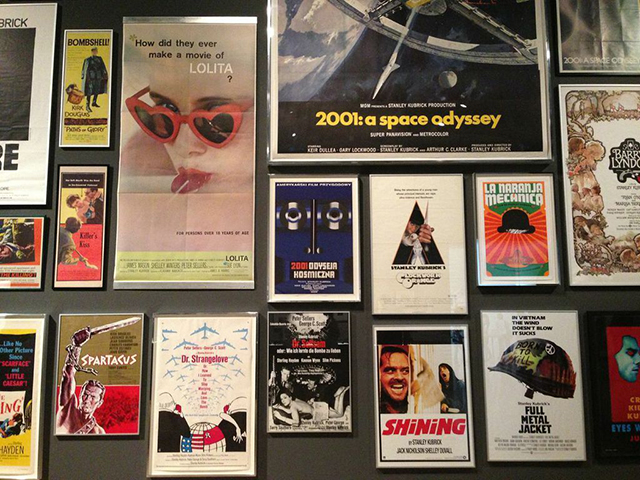 Stanley Kubrick posters at LACMA