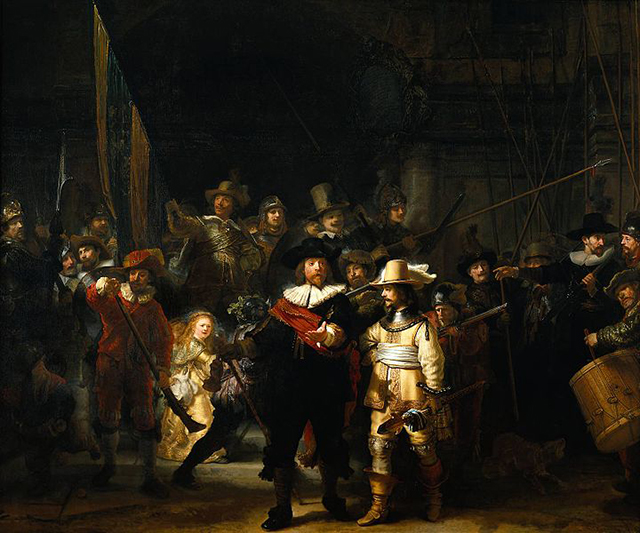 """The Night Watch"" by Rembrandt (1642) (Image via wikipedia.org)"
