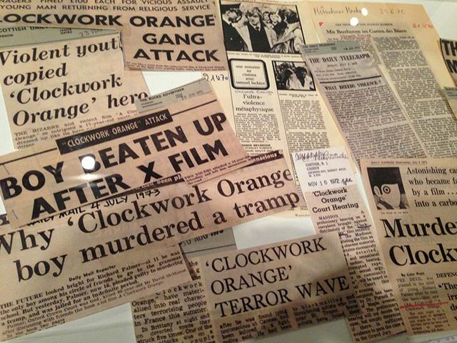 """Headlines responding to """"A Clockwork Orange"""""""