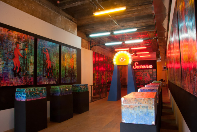 Installation View of Scott Ewalt's Back In The Night at Participant Inc. (Photo by Mr. Means; Courtesy of Participant Inc.)