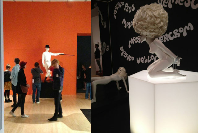 """Various costumes an props from """"Clockwork Orange"""" (1971)"""