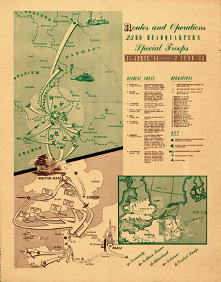 A map of Ghost Army operations (click to enlarge)