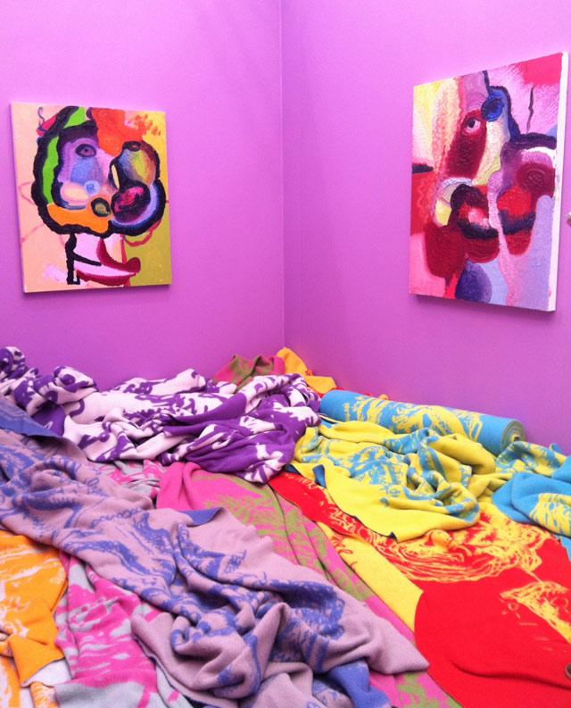 Bjarne Melgaard's installation at Gavin Brown