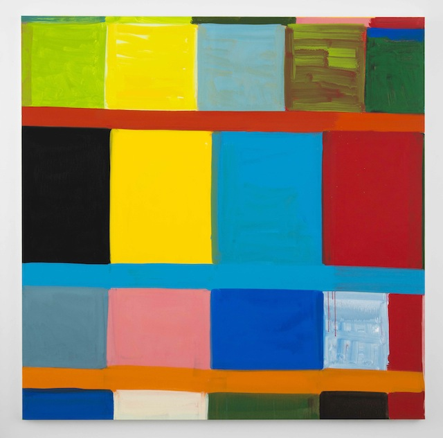 """Stanley Whitney """"Other Colors I Forget (2012), oil on linen, 72 x 72 inches (Image courtesy Team Gallery and artist)"""