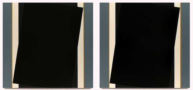 """Don Voisine, """"Till"""" (2013), Oil on wood panel, Diptych, 44 x 46 inches each panel"""
