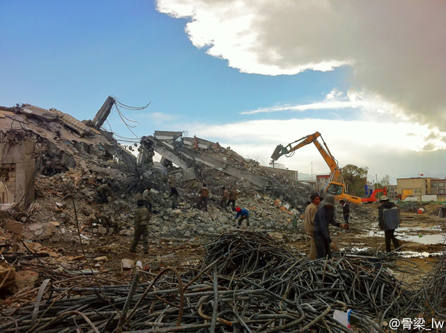 Destruction of structures in the Lhasa Old City