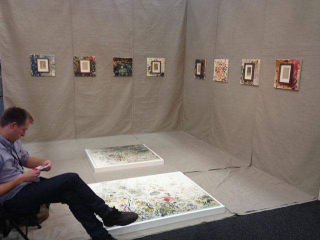 Nicolas Frank's display at Green Gallery.