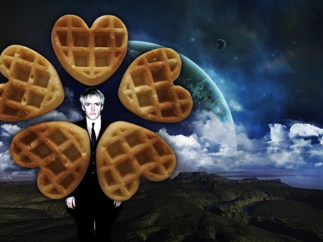 "Marie Walz, ""Nick Rhodes. Outer Space. Heart Waffles"" (image via nickrhodesouterspacewaffle.tumblr.com)"