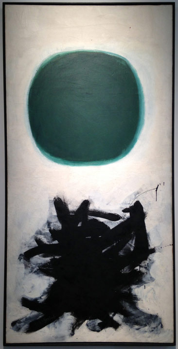 "Adolph Gottleib, ""Blast II"" (1957), oil on canvas, 90 x 45 in, Leonard Hutton Gallery"