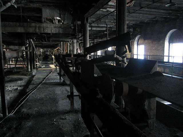 One of the top floors of the Domino Sugar Factory