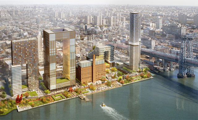 Plans for the development of the Domino Sugar Factory site (via SHoP Architects)