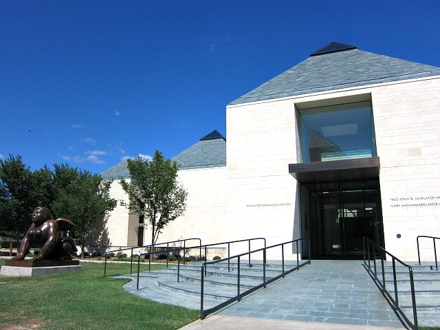 Exterior of the Fred Jones Jr. Museum of Art