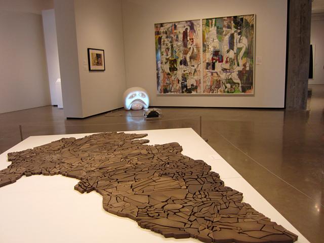 "Irene Kopelman, ""Landscape's Morphology Determines its Shape""(2011), fired clay"