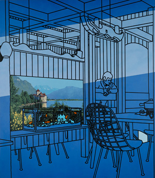 "Patrick Caulfield, ""After Lunch"" (1975), Tate (© Estate of Patrick Caulfield, photo by Tate Photography) (click to enlarge)"