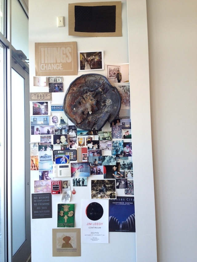 The wall of memories at the entrance to the now-closed Dolphin Gallery