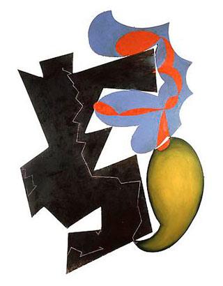 "Elizabeth Murray, ""Sentimental Education"" (1982), oil on canvas, 127 x 96 in"