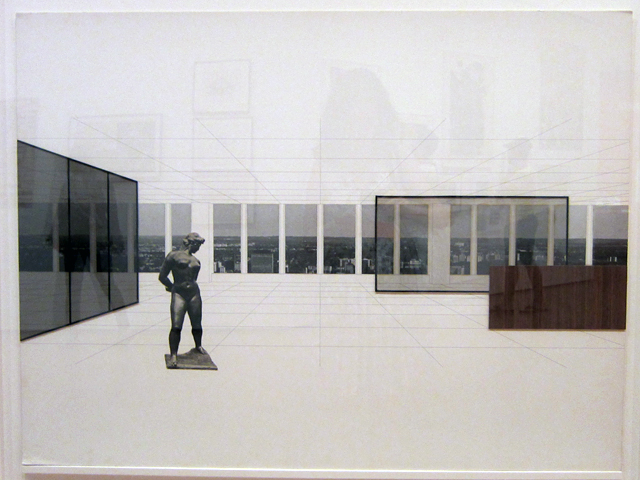 "Ludwig Mies van der Rohe, ""George Schaefer Museum, Schweinhurt, Germany"" (1960-63), photocollage on illustration board"