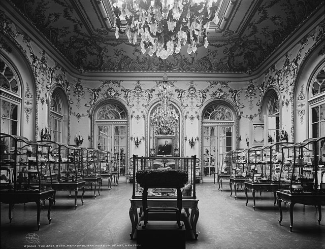 Photograph of the Jade Room taken between 1900 and 1910 (via Library of Congress)