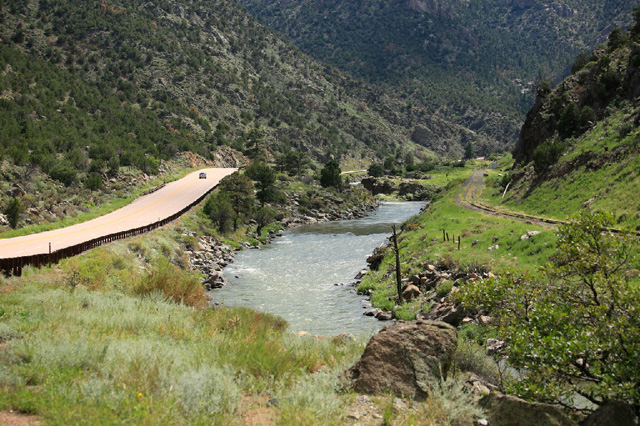 """A stretch of the Arkansas River in Colorado where """"Over the River"""" would be installed (photo courtesy ROAR)"""