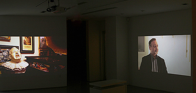"Pablo Helguera, ""Canon"" (2013). Two-channel video. Dimensions variable."
