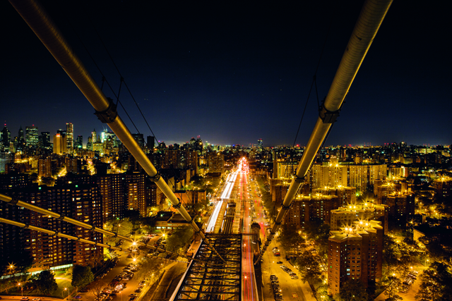View of Manhattan from the top of the Williamsburg Bridge, 2011