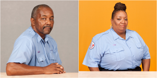 Bus drivers Harry West & Kasandra Ellis, photographed by Michael Lease (all images courtesy the artist)