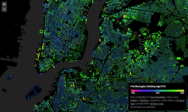 Five Boroughs: Building Age NYC (screenshot from bdon.org/)