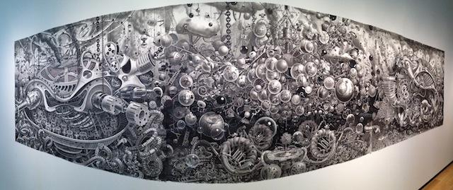 """Samuel Gomez, """"Deadpan Comedy"""" (2013), graphite and ink on paper."""