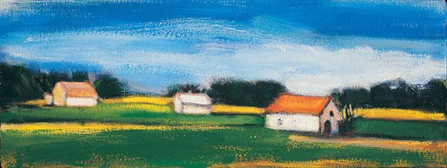 """Albert Kresch, """"Temple, Maine (Morning)"""" (1986) (courtesy National Academy Museum)"""