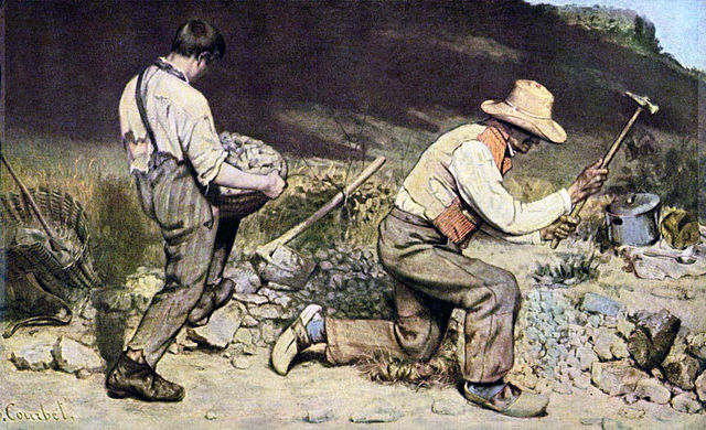 "Gustave Courbet, ""The Stone Breakers"" (1849), oil on canvas (via The Yorck Project)"